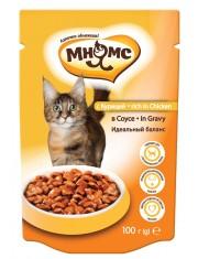 Полноценный корм для взрослых кошек курица в соусе