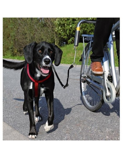 Велоспрингер (поводок)  для крупных  собак с креплением к велосипеду