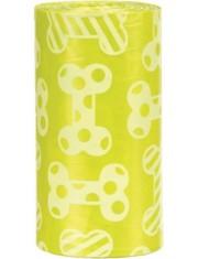 Пакеты для уборки за собаками с запахом лимона, желтые