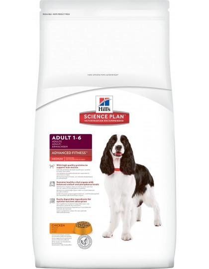 Science Plan Canine Adult Advanced Fitness Medium - это точно сбаланированное питание для поддержания мускулатуры и здоровья жизненно важных органов, курица
