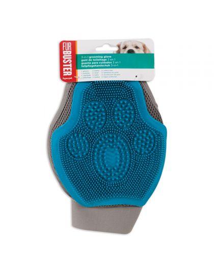 Dog 3in1 grooming glove варежка для удаления выпавшей шерсти, для собак