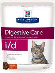 Hill's Prescription Diet i/d Digestive Care сухой диетический корм для кошек для поддержания здоровья ЖКТ курица