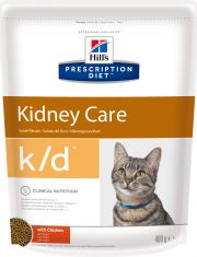 Hill's Prescription Diet k/d Kidney Care сухой диетический корм для кошек для поддержания здоровья почек с курицей