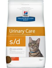Prescription Diet Feline s/d для растворения струвитных уролитов у кошек разработан при участии ветеринарных специалистов