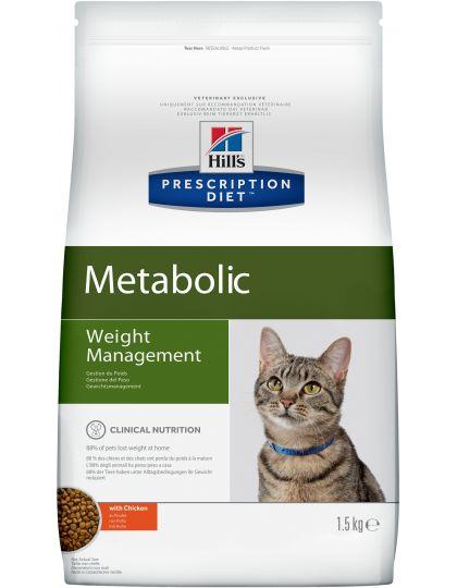 Prescription Diet Feline Metabolic сбалансированный рацион для контроля веса животного