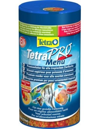 TetraPro Menu корм для всех видов рыб, 4 вида чипсов в одной банке