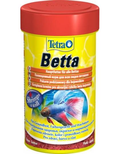 Корм Tetra Betta для петушков и лабиринтовых рыб в хлопьях, 100 мл