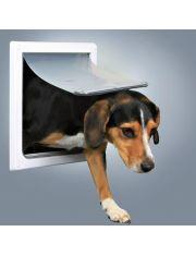Дверца для кошек/собак S-M, белая, 2 положения