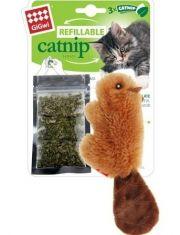 """Игрушка для кошек """"бобрёнок"""" с кошачьей мятой"""