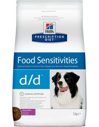 Hill's Prescription Diet d/d Food Sensitivities сухой диетический корм для собак для поддержания здоровья кожи и при пищевой аллергии утка и рис