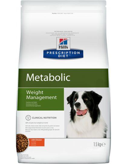 Hill's Prescription Diet Metabolic Weight Management сухой диетический корм для собак для достижения и поддержания оптимального веса с курицей