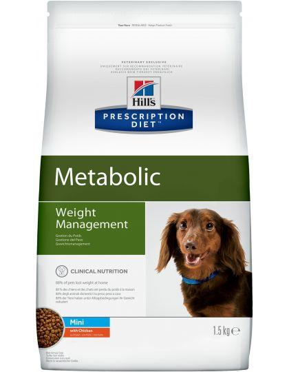 Hill's Prescription Diet Metabolic Weight Management сухой диетический корм для собак мелких пород для достижения и поддержания оптимального веса с курицей