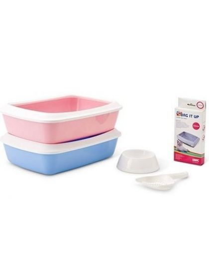 Набор для котят starter kit (туалет iriz 42*31*12,5 см, пакеты,совок, миска)