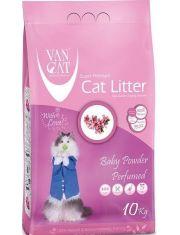 Наполнитель для кошачьих туалетов, комкующийся, без пыли, с ароматом детской присыпки