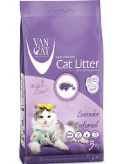 Наполнитель для кошачьих туалетов, комкующийся, с ароматом лаванды