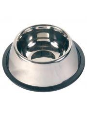 Миска, металлическая с резинкой для собак с длинными ушами