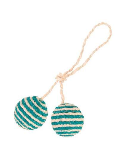 2 мяча на верёвке игрушка для кошек