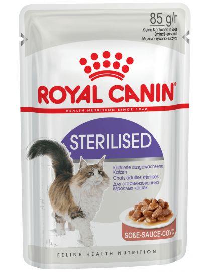 Sterilised кусочки в соусе для стерилизованных взрослых кошек