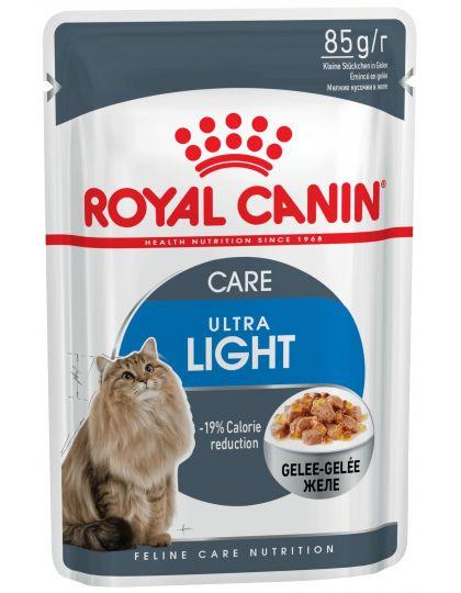 Ultra Light в желе полнорационный влажный корм рекомендован кошкам старше 1 года