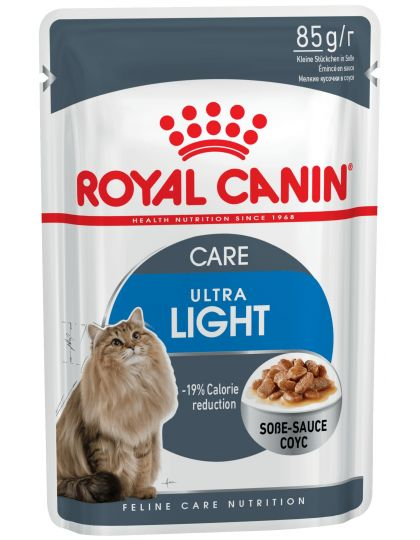 Ultra Lightв соусе полнорационный влажный корм рекомендован кошкам старше 1 года