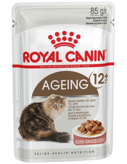 Ageing +12 в соусе измельченные кусочки в соусе для кошек старше 12 лет