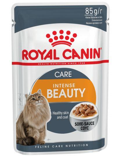 Intense Beauty кусочки в соусе для поддержания красоты шерсти кошек