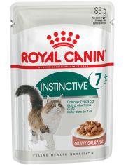 Instinctive +7 в соусе мелкие кусочки в соусе для кошек старше 7 лет