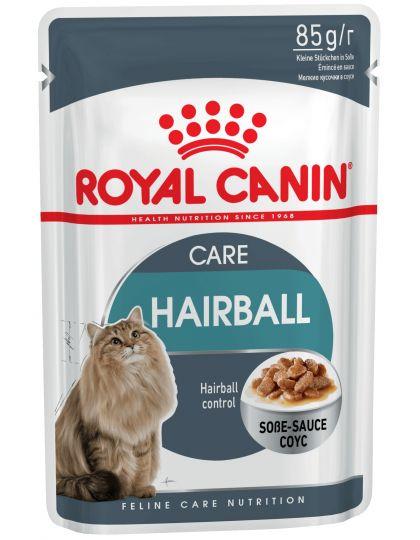 Hairball Care в соусе тщательно сбалансированная фор-мула, помогающая естественным образом снизить риск образования волосяных комочков