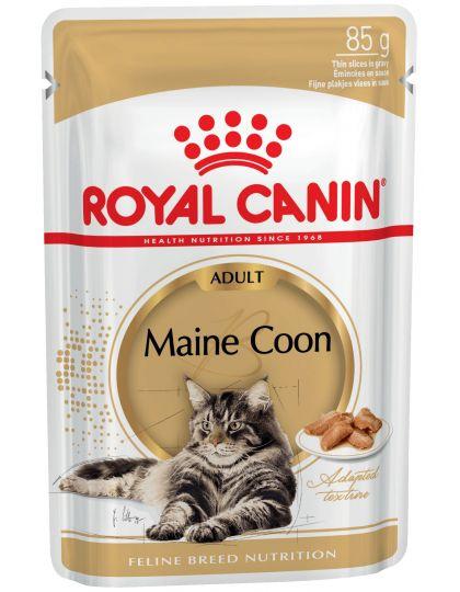 Maine Coon Adult кусочки в соусе для кошек породы мейн-кун в возрасте старше 15 месяцев