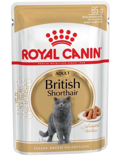 British Shorthair Adult кусочки в соусе для британских короткошерстных кошек старше 12 месяцев