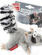 Белка игрушка для кошек с кошачьей мятой