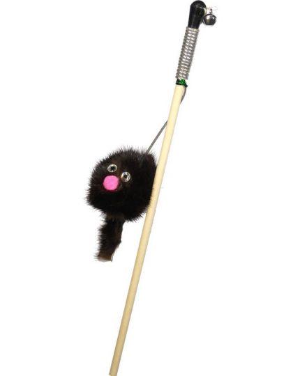 Удочка-дразнилка зверек из норки на веревке