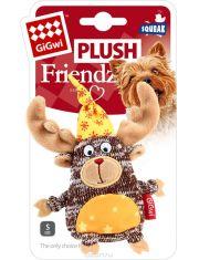 Лось с пищалкой игрушка для собак