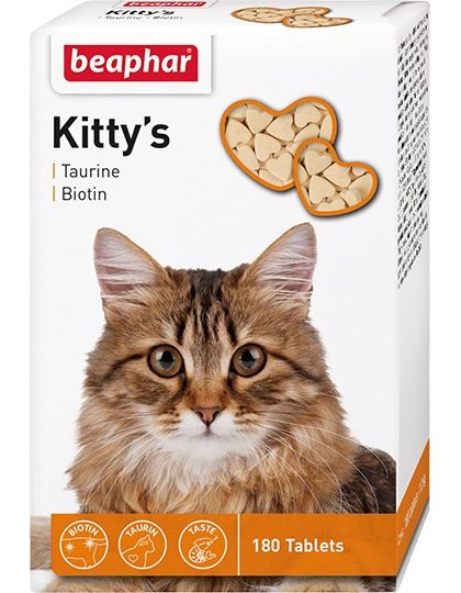 Kitty's + Taurine-Biotine кормовая добавка с биотином и таурином для кошек