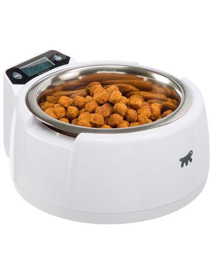 Optima миска с электронными весами, в пластиковой подставке, для собак и кошек,размер подставки 20*21,3*9,6 см