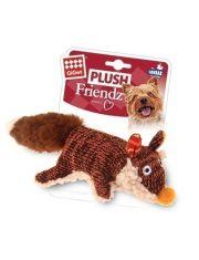 Лиса с пищалкой игрушка для собак малых и средних пород