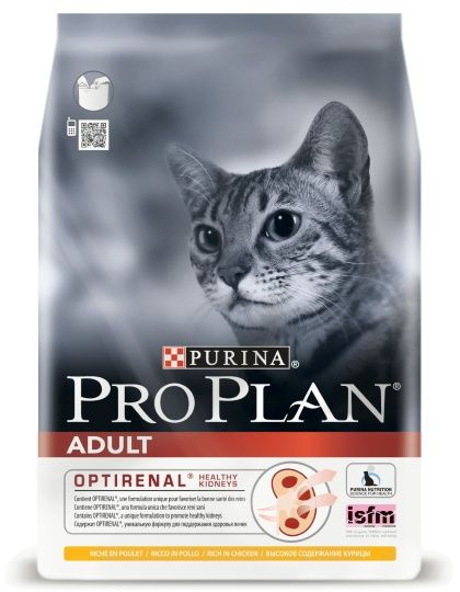 Adult сухой корм для взрослых кошек курица/рис