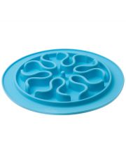 Миска силиконовая рельефная (волны) игровая для медленного поедания корма 24 см