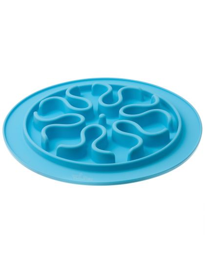 Миска силиконовая рельефная (волны) игровая для медленного поедания корма