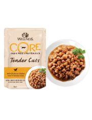 Tender Cuts пауч для кошек нежные кусочки курицы и куриной печени в пикантном соусе