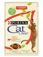 Adult 1+ консервы для кошек старше 1 года говядина и баклажан в желе