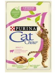 Adult 1 +  консервы для кошек ягненок и зеленая фасоль в желе