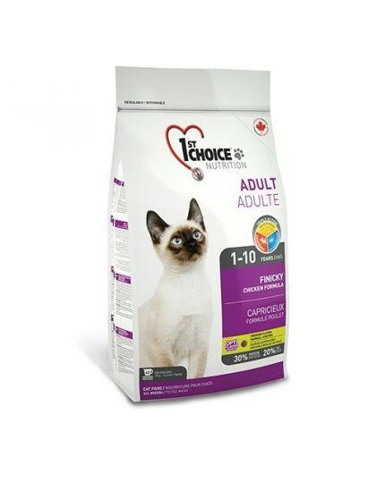 Фест чейс FINICKY для взрослых привередливых кошек от 1 года до 10 лет курица