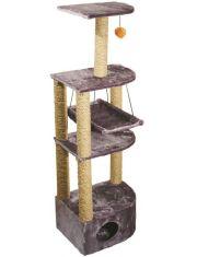 Домик-когтеточка 4-х уровневый угловой с гамаком (веревка)