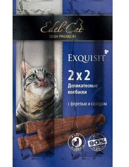 Лакомство для кошек мини-колбаски форель и солод