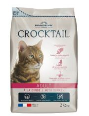 Crocktail Adult With Turkey полнорационный корм для взрослых кошек, индейка