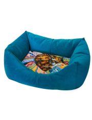 """Лежанка-пухлик с двухсторонней подушкой для кошек """"кошка"""""""