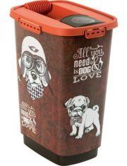 Контейнер для сухого корма, рисунок собаки