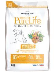 Pure Life Sterilized With Duck and Sardine полнорационный корм для стерилизованных кошек и/или кошек со склонностью к набору избыточного веса