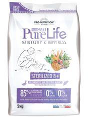 Pure Life Sterilized  8+ With Duck and White Fish полнорационный корм для стерилизованных кошек и/или кошек со склонностью к набору избыточного веса старше 8 лет